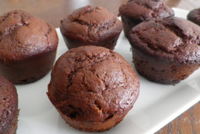 Muffins choco courgettes et miel